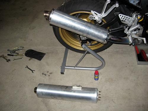 Как сделать глушитель на мотоцикле